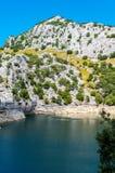 Красивое озеро Panta de Gorg Blau горы, Мальорка, Испания Стоковое Изображение RF