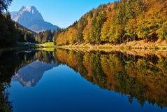Красивое озеро Riessersee горы в Баварии Стоковая Фотография RF