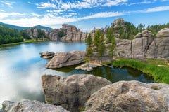 Красивое озеро Sylvan Стоковые Изображения RF