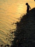 Красивое оранжевое река Стоковое Изображение