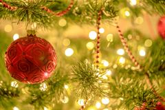 Красивое освещение рождества стоковое изображение rf