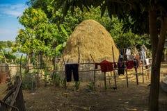 Красивое отключение сельской местности в тропическом сельском районе, Siem Reap, Камбодже стоковые изображения