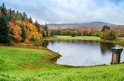 Красивое отражение озера в Новой Англии во время сезона листвы Стоковые Изображения