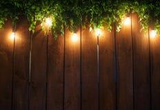 Красивое оформление свадьбы от включенных светов Стоковая Фотография RF