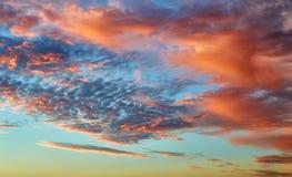 Красивое пасмурное небо вечера Стоковое фото RF