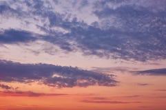 Красивое пасмурное небо вечера Стоковые Фотографии RF