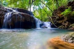Красивое падение воды в Kanchanaburi Стоковые Изображения RF