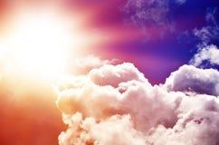 Красивое пестротканое небо стоковые изображения