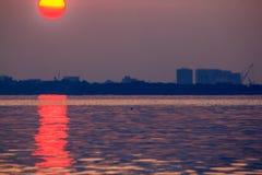 Красивое полнолуние на острове Labuan Стоковые Фото