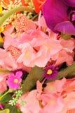 Красивое разнообразие искусственных цветков Стоковое фото RF