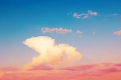 Красивое драматическое небо Стоковые Фото