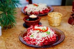 Красивое расположение завтрака здорового уклада жизни вегетарианского на деревянном столе Стоковое Фото