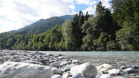 Красивое река в Швейцарии акции видеоматериалы