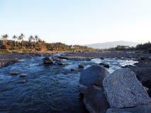 Красивое река сини после полудня Стоковые Фотографии RF
