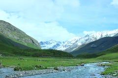 Красивое река с горой Стоковое Изображение RF