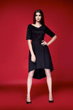 Красивое сексуальное платье женщины одевает каталог собрания Стоковое Фото
