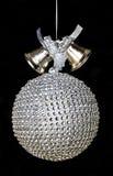 Красивое серебряное украшение рождественской елки Стоковые Фото