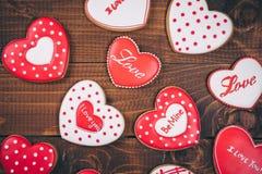Красивое сердце пряника Стоковое Изображение RF
