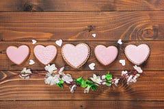 Красивое сердце пряника Стоковые Изображения