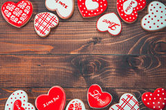 Красивое сердце пряника Стоковое Изображение