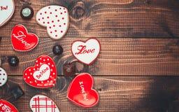 Красивое сердце пряника Стоковая Фотография