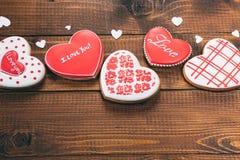 Красивое сердце пряника Стоковые Фото