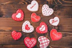 Красивое сердце пряника Стоковые Изображения RF
