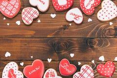 Красивое сердце пряника Стоковое Фото