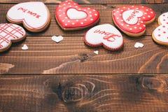 Красивое сердце пряника Стоковое фото RF