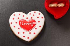 Красивое сердце пряника Стоковая Фотография RF