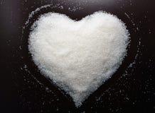 Красивое сердце сахара Идеи дня валентинок Карточки дня валентинок Стоковые Фотографии RF