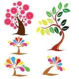 Красивое собрание деревьев Стоковое Изображение