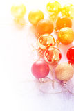 Красивое собрание шариков рождества сделанных с цветными поглотителями Стоковые Изображения RF