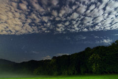 Красивое созвездие ночного неба Ориона Стоковые Изображения