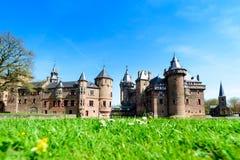 Красивое средневековое, фантазия, старый замок Голландии De Haar на s стоковая фотография