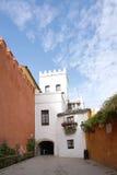 Красивое старое здание в старом городке Испании Стоковое Фото