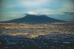 Красивое сценарное вулкана vesuvius южного Италии стоковое изображение