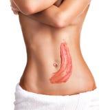 Красивое тело с scrub Стоковое Изображение RF