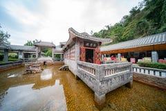 Красивое традиционное здание вокруг заповедника горы Dinghu национально стоковая фотография rf