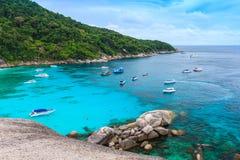 Красивое тропическое море и голубое небо острова Similan, Phang Nga Стоковое фото RF