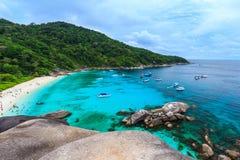 Красивое тропическое море и голубое небо острова Similan, Phang Nga Стоковое Изображение RF