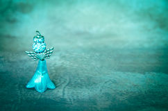 Красивое украшение голубого ангела Стоковые Фото