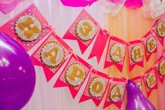 Красивое украшение писем на празднике ` s детей Стоковое Фото