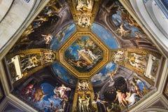 Красивое украшение потолка в Ватикане, Италии Стоковые Изображения RF