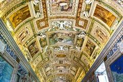 Красивое украшение потолка в Ватикане Стоковое Изображение RF