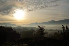 Красивое утро над Пиренеи Стоковая Фотография RF