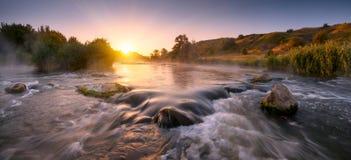 Красивое утро fogy Стоковая Фотография RF