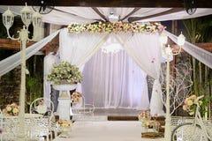 Красивое фото еврейского Hupa, wedding putdoor Стоковое Фото