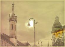 Красивое фото перемещения исторических зданий в вене стоковые фотографии rf