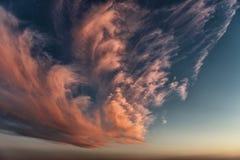 Красивое цветастое небо Стоковая Фотография RF